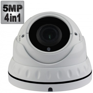 5Mp Varifocal Dome Security Camera, 40M Night Vision, 4-in-1,1080p